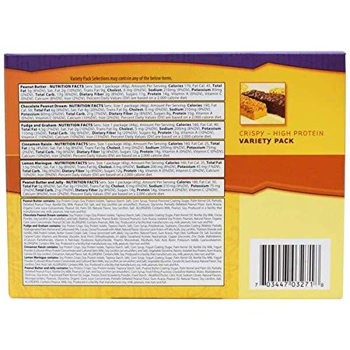 NutriWise - Crispy High Protein Nutrition Diet Bar | Variety Pack 7/bars