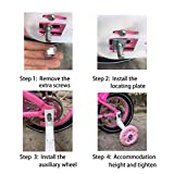 Training Wheels for Bike,Compatible for Bikes of 16 Inch,Flash Mute Wheel, 1 Pair