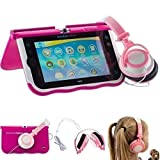 Ultimateaddons® Pink Kids Folding Small DJ Style Headphones compatible with vTech Innotab Max