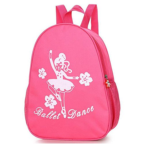 Ballet Shoe Bag - Zaptex Kids Ballet Gym Backpack Little Girls Dance Shoulder Bag from (Rose red, One Size)