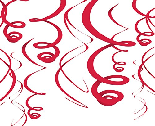 Red Hanging Swirl Decorations