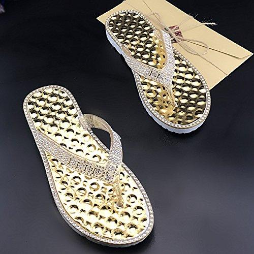 DULEE - Zapatillas de estar por casa de Caucho para mujer amarillo