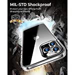 RANVOO Clear Case Compatible with iPhone 12 Pro Max Case with 2 Screen Protectors, Protective Shockproof [Full Body…