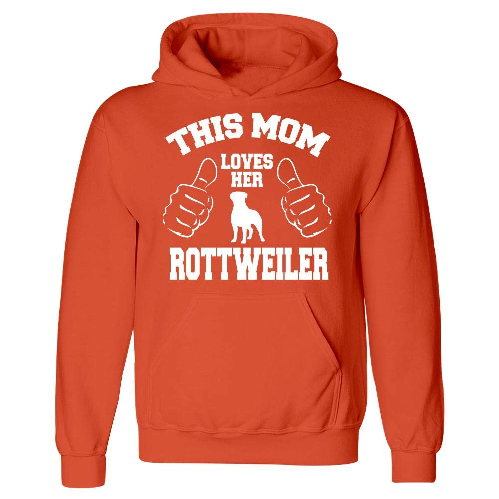 Cute Dog Lover Hoodie This Mom Loves Her Rottweiler