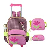 Best Rolling Backpacks For Girls - Children's Trolley Flower Bag 3 Pieces,Girls Rolling Backpack Review