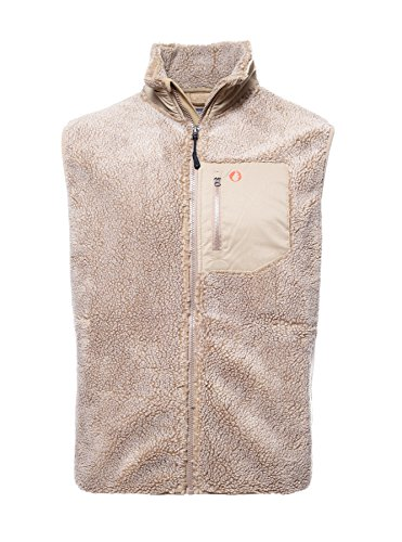 The American Outdoorsman Adirondack Sherpa Vest (Medium, Deerskin) (Brocade Zip Jacket)