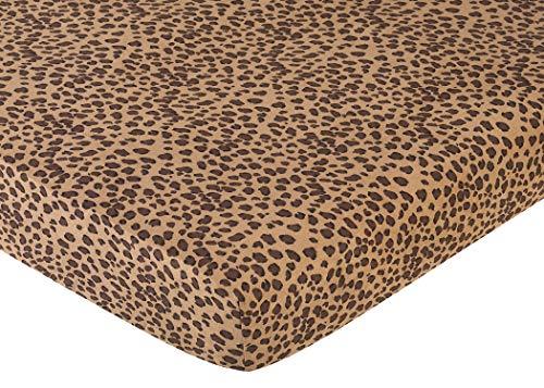 (Sweet Jojo Designs Cheetah Girl Fitted Crib Sheet for Baby and toddler Bedding Sets - Cheetah Print)
