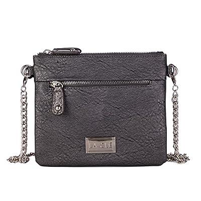 La Clé LA-012Wrist Chain Zipper Crossbody Bag