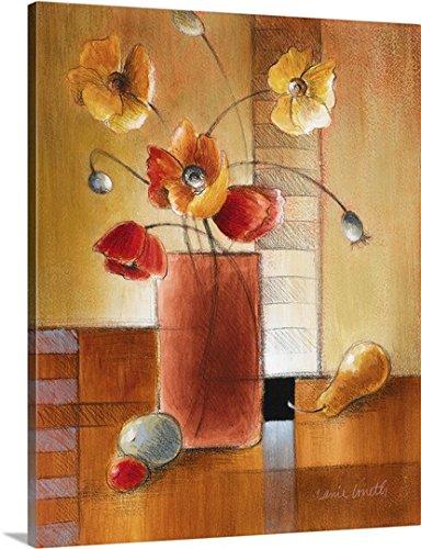Lanie Loreth Premium Thick-Wrap Canvas Wall Art Print entitled Afternoon Poppy Still Life I - Life Still Transitional