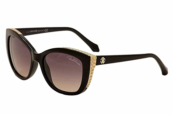 Shiny Black//Gradient Smoke 54-17-135 Roberto Cavalli Mens Designer Sunglasses
