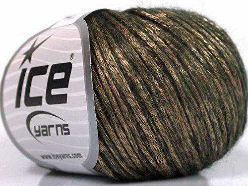 (Lot of 8 Skeins ICE Rock Star (19% Merino Wool) Yarn Bronze Dark Brown)