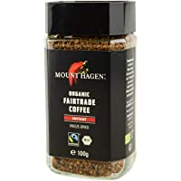 德国进口哈根山速溶咖啡 阿拉比卡粗粒黑咖啡粉 (醇香速溶黑咖啡100g)