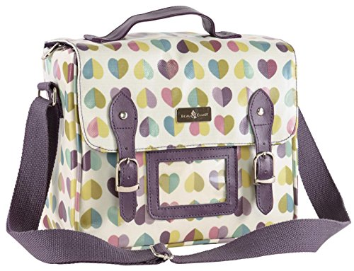 Vintage Retro Confetti Hearts Satchel Insulated Lunch Tote Bag (25 x 14 x 21cm) by Beau & Ellliot - Bella Satchel