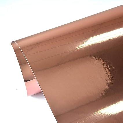 93508045a31184 Amazon.com: TECKWRAP Chrome Mirror Rose Gold Vinyl Wrap Car Sticker Adhesive  with Air Release 11.5