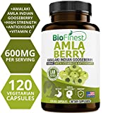 Biofinest Amla Berry (Indian Gooseberry) Capsules – with Vitamin C and Antioxidants – Potent Natural Supplement – Healthy Aging, Cholesterol Balance – Ayurveda (120 Vegetarian Capsules) For Sale