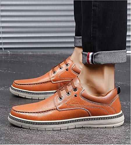 lacci Dimensione US 7 uomo Colore UK Marrone con casual per 8 comode Marrone HhGold pelle da Scarpe in uomo OSn0Zg
