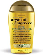OGX  Renewing Moroccan Argan Oil Extra Strength Penetrating Oil for Dry/Coarse Hair, (1) 3.3 Ounce Bottle, Paraben Free, Sulf