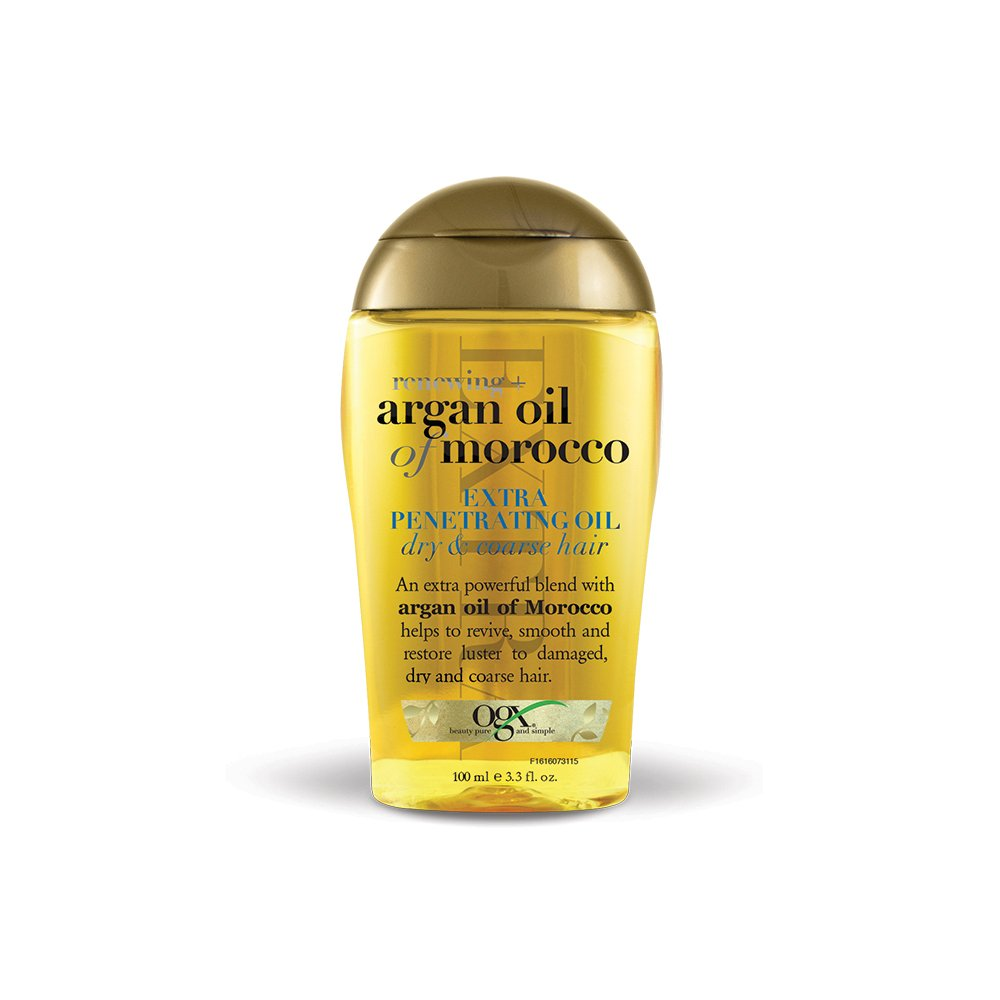 OGX Renewing Moroccan Argan Oil Extra Strength Penetrating Oil for Dry/Coarse Hair, (1) 3.3 Ounce Bottle, Paraben Free, Sulfate Free, and Sustainable Ingredients 91616