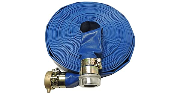 Amazon.com: Manguera de descarga de agua plana de PVC ...