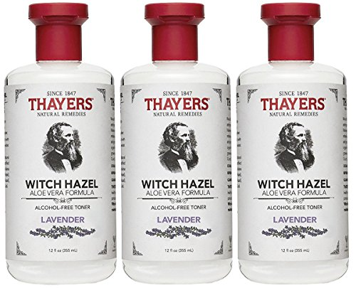 Toner Alcohol - Thayers Alcohol-Free Toner, Lavender, Witch Hazel, 12-Ounces (Pack of 3)