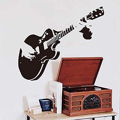 Ajcwhml Guitarra Creativa música Pegatinas de Pared decoración del ...