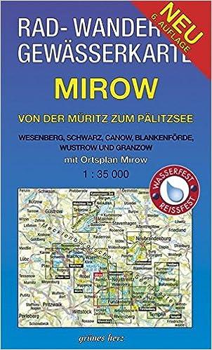 Wasserwandern Mecklenburgische Seenplatte Karte.Rad Wander Und Gewasserkarte Mirow Von Der Muritz Zum