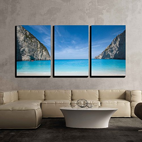 wall26 - 3 Piece Canvas Wall Art - Beautiful Beach for sale  Delivered anywhere in USA