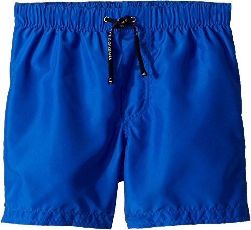 Dolce & Gabbana Kids Baby Boy's Mid Swim Boxer (Toddler/Little Kids) Blue Print 5 by Dolce & Gabbana