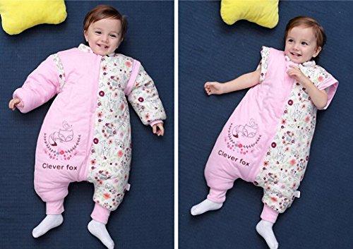 Saco de dormir infantil manga larga Invierno babyschlafsack Flores de perro de hada con patas algodón niño niña Unisex pijama.Pijama/Mono/strampler. con ...