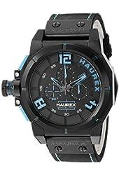 Haurex Italy Men's 6N510UBB Space Chrono Analog Display Quartz Black Watch
