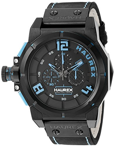 Haurex Italy Men's 6N510UBB Space Chrono Analog Display Quartz Black Watch - Haurex Black Watch
