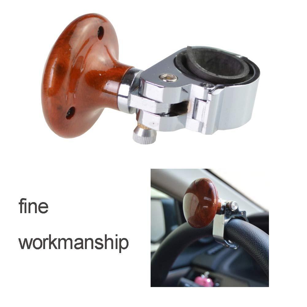 Acobonline Perilla del volante del coche Plegable Spinner Grip Manejo con una sola mano F/ácil instalaci/ón Control flexible Volante Grip Ball para veh/ículo Carbon