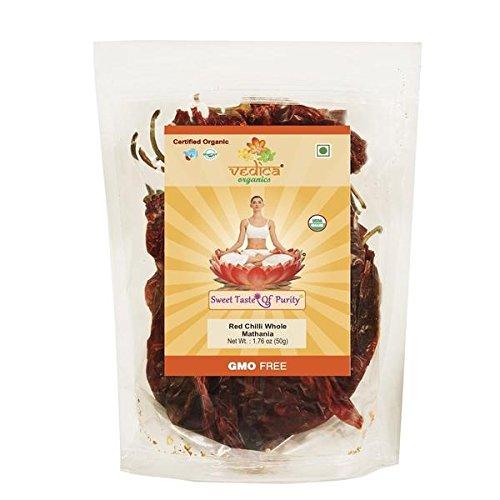 Organic Whole Red Chili Pepper - Indian Red Chili Mathania
