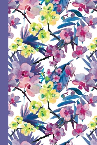 Journal: Watercolor Flowers (Purple and Yellow/Purple) 6x9 - LINED JOURNAL - Journal with lined pages - (Diary, Notebook) (Watercolor Flowers Lined Journal Series)