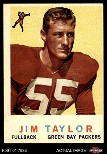 1959 Topps # 155 Jim Taylor Green Bay Packers (Football Card) Dean's Cards 4 - VG/EX Packers ()