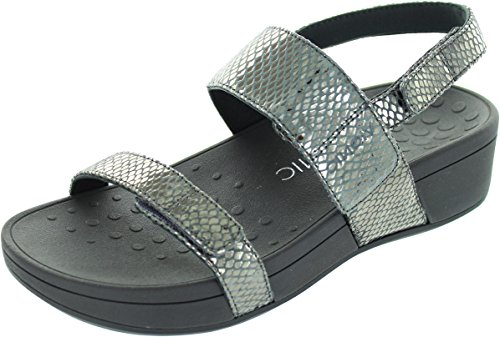 Bolinas US Sandals Womens 9 Pewter Leather Pacific Vionic 382 Snake zwExgqxZ7