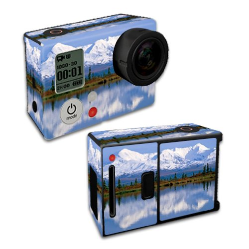 Mightyskins Protective Vinyl Skin Decal Cover for GoPro Hero3+ Plus Silver/Black Edition Camera Digital Camcorder wrap sticker skins Mountains