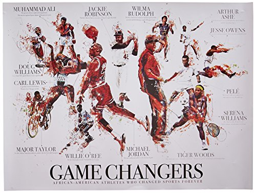 African American Sports Athletes Poster Black History Wall Art Print