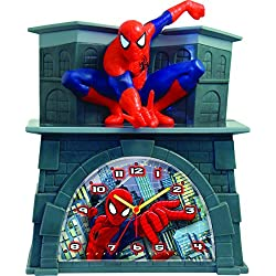 Ashton Sutton Spiderman Quartz Analog Bank Alarm Clock