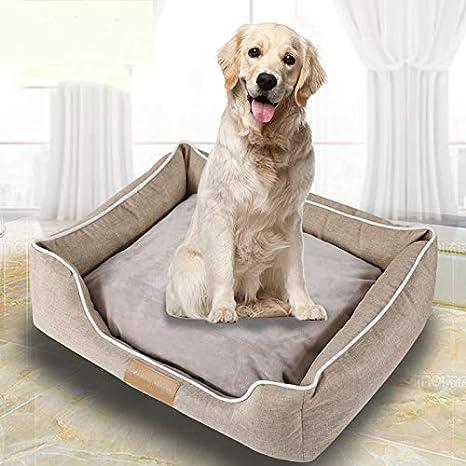 Huichao Cama para Perros,Cómodo Casa para Mascotas, Cama para Perros Perrera Gato del Perro De Perrito Sofa House Bed (marrón Claro),M: Amazon.es: Hogar