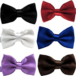 Elife Set of 10 Solid Color Mens Man Tuxedo Adjustable Neck Bowtie Bow Tie Collection