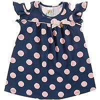Vestido Rotativo Marinho Bebê Menina Cotton 39112-116