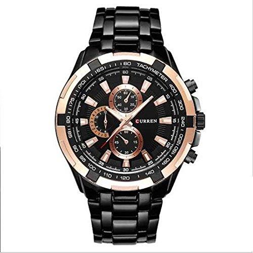 Curren para hombre Horloge zwart-goud acople de 45 mm modelo 2018: Amazon.es: Relojes