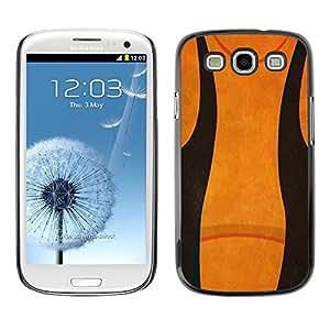 TopCaseStore / la caja del caucho duro de la cubierta de protección de la piel - Abstract Black Orange - Samsung Galaxy S3 I9300