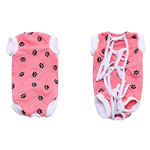 NEPPT After Surgery Wear Post Shirt Anxiety Dog Surgical Suit Wrap Body Pet Infection General Recovery Medical For Dogs(L, Pink) by NEPPT (Image #3)