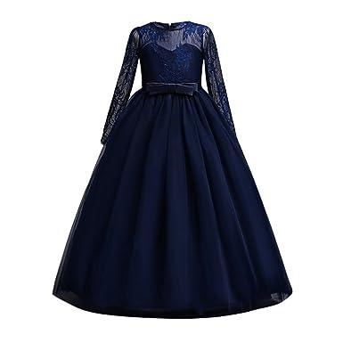 f6c7dc76062f Hougood Girls Dresses Prom Dresses for Kids Flower Girl Fancy Party Dress  Princess Dress Up Summer