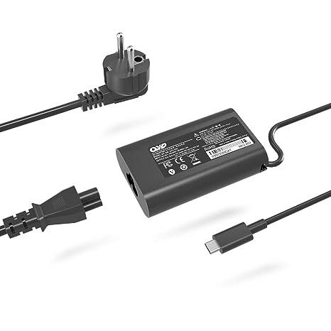 QYD - Cargador USB Tipo C para DELL XPS 13 9365 9370 9380, Latitude 7275 7370 5175 5285 5290 2 en 1 7390 – 2 en 1 P82G001 LA45NM150 HA45NM150 0HDCY5 ...