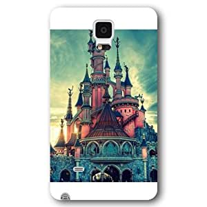 Customized White Hard Plastic Disney Castle Samsung Galaxy Note 4 Case hjbrhga1544