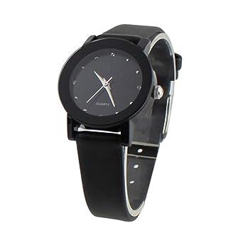 Damenuhren schwarz gold leder  Elegante Damenuhr Damen Uhr Armbanduhr Qurtzuhr PU Leder Schwarz ...