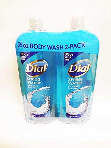 Dial Antibacterial Body Wash, Spring Water (35 fl. oz., 2 (Antibacterial Body Wash)